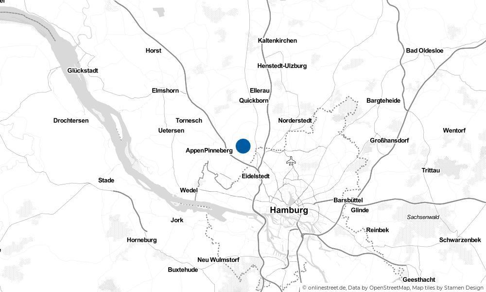 Karte: Wo liegt Ellerbek?