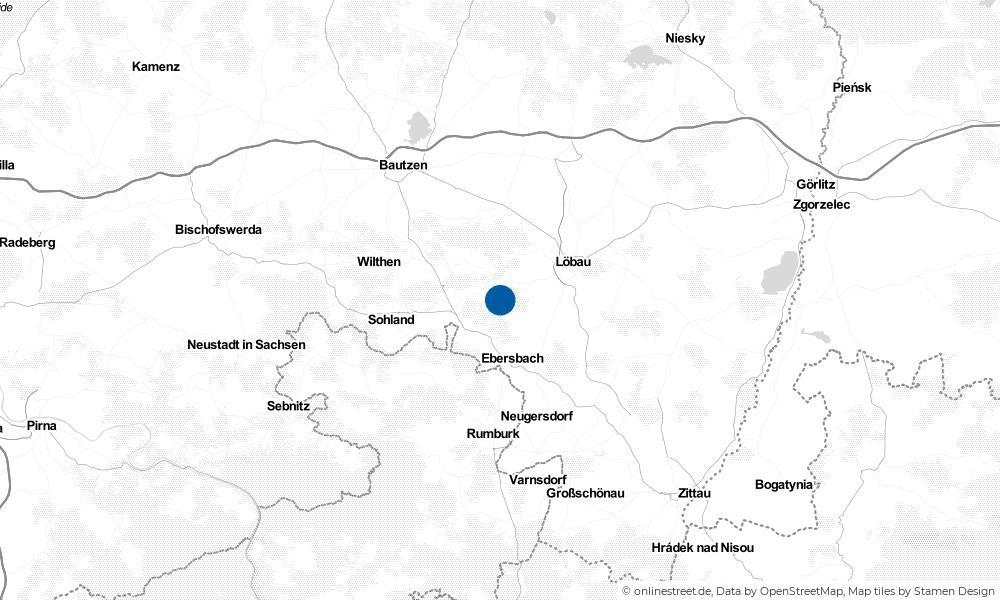 Karte: Wo liegt Schönbach?