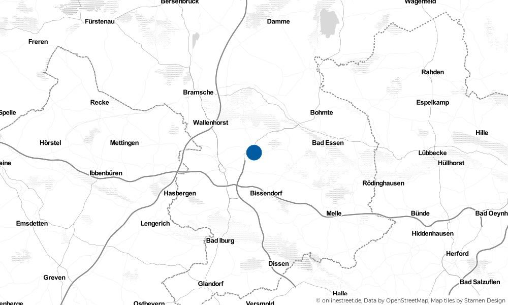 Karte: Wo liegt Belm?