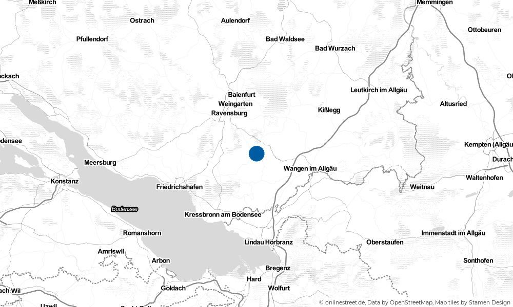Karte: Wo liegt Bodnegg?