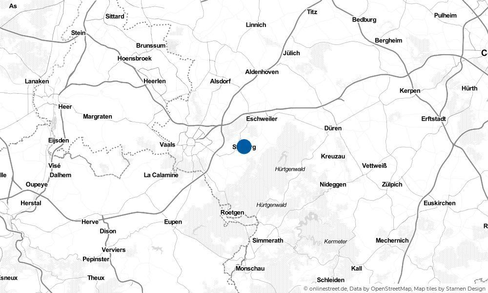 Karte: Wo liegt Stolberg (Rheinland)?
