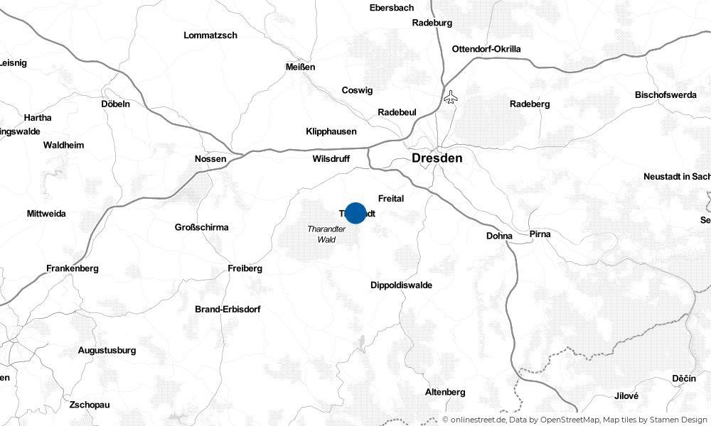 Karte: Wo liegt Tharandt?