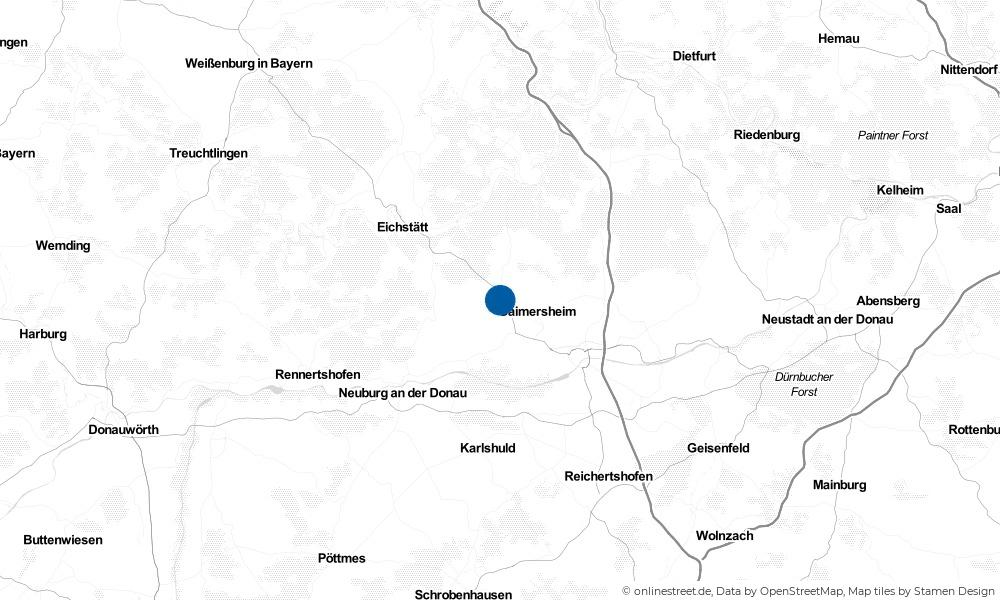 Karte: Wo liegt Eitensheim?