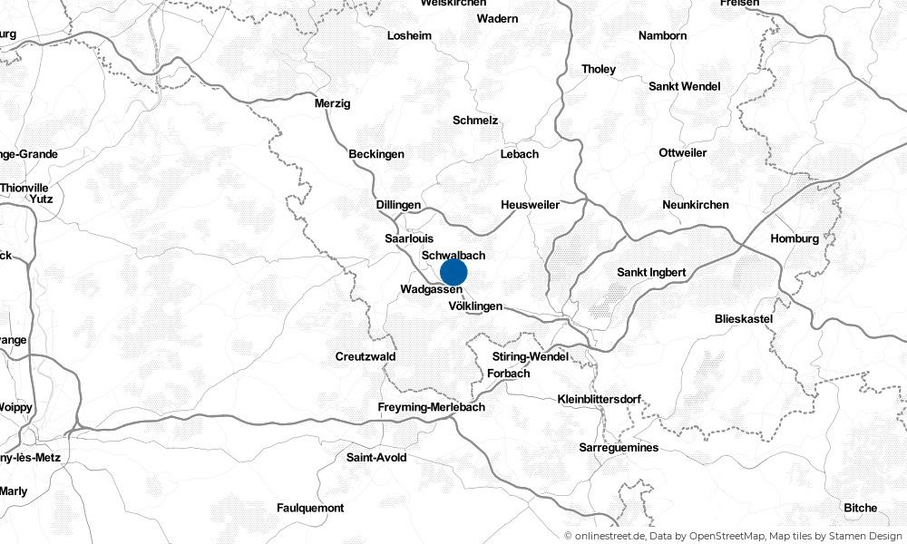 Karte: Wo liegt Schwalbach?
