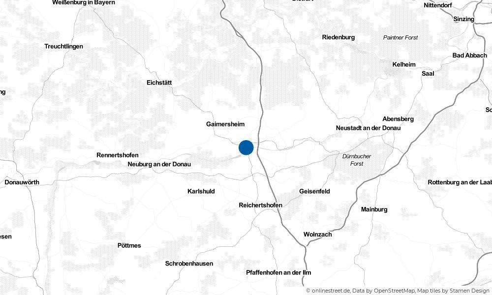 Karte: Wo liegt Ingolstadt?