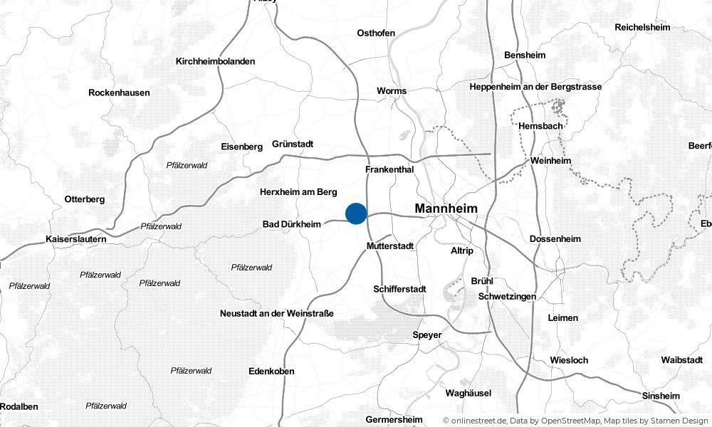 Karte: Wo liegt Maxdorf?