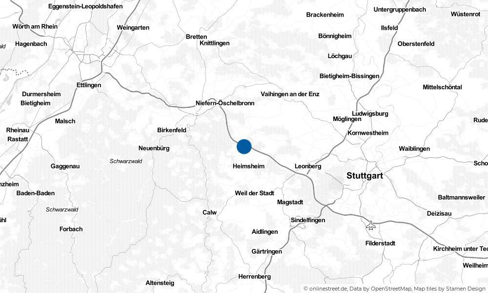 Karte: Wo liegt Friolzheim?