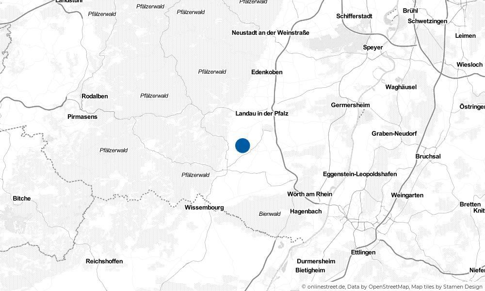 Karte: Wo liegt Heuchelheim-Klingen?