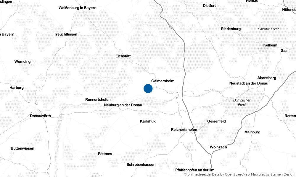 Karte: Wo liegt Buxheim?