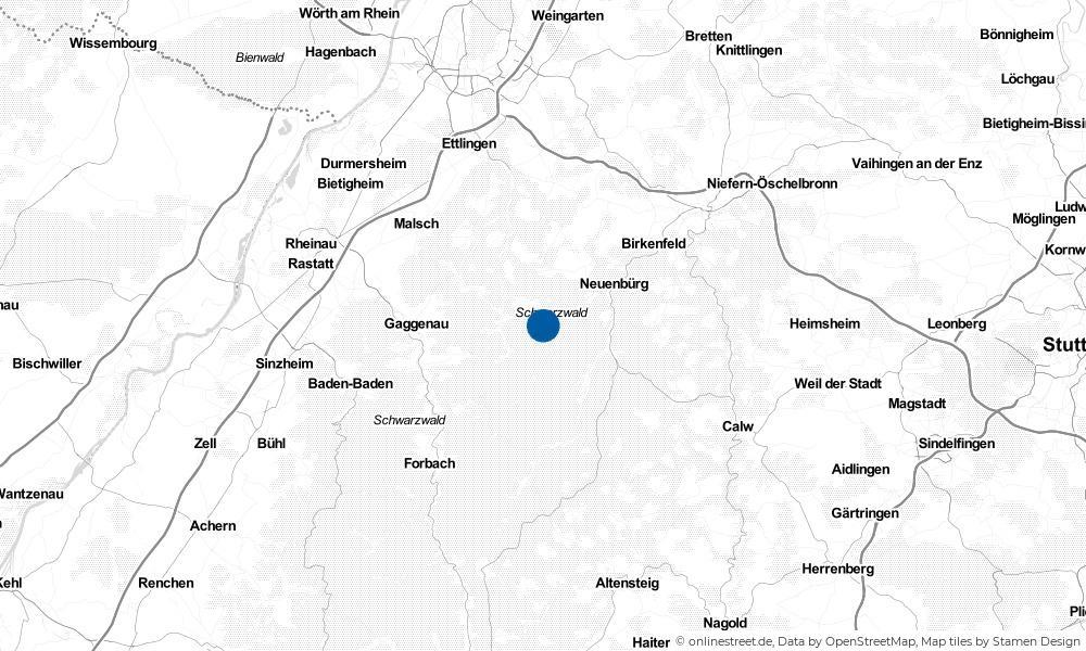 Karte: Wo liegt Dobel?