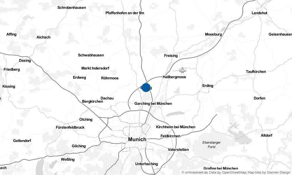 Karte: Wo liegt Eching?