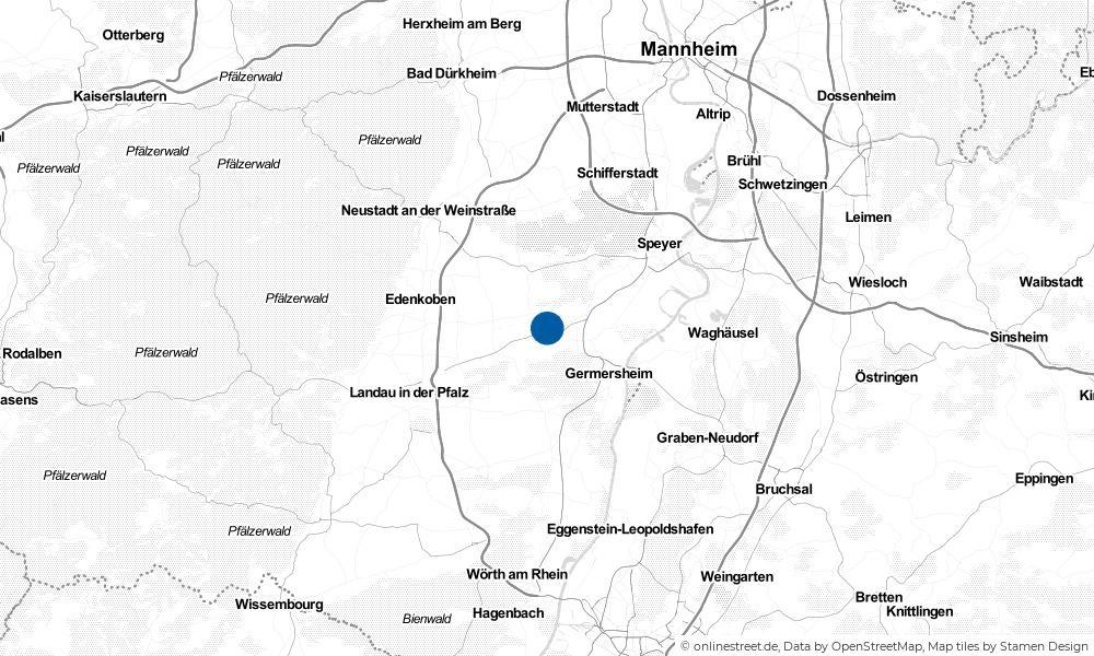 Karte: Wo liegt Weingarten?