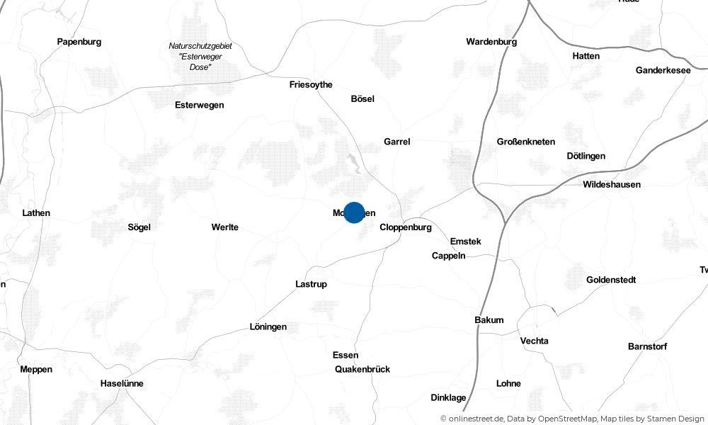 Karte: Wo liegt Molbergen?