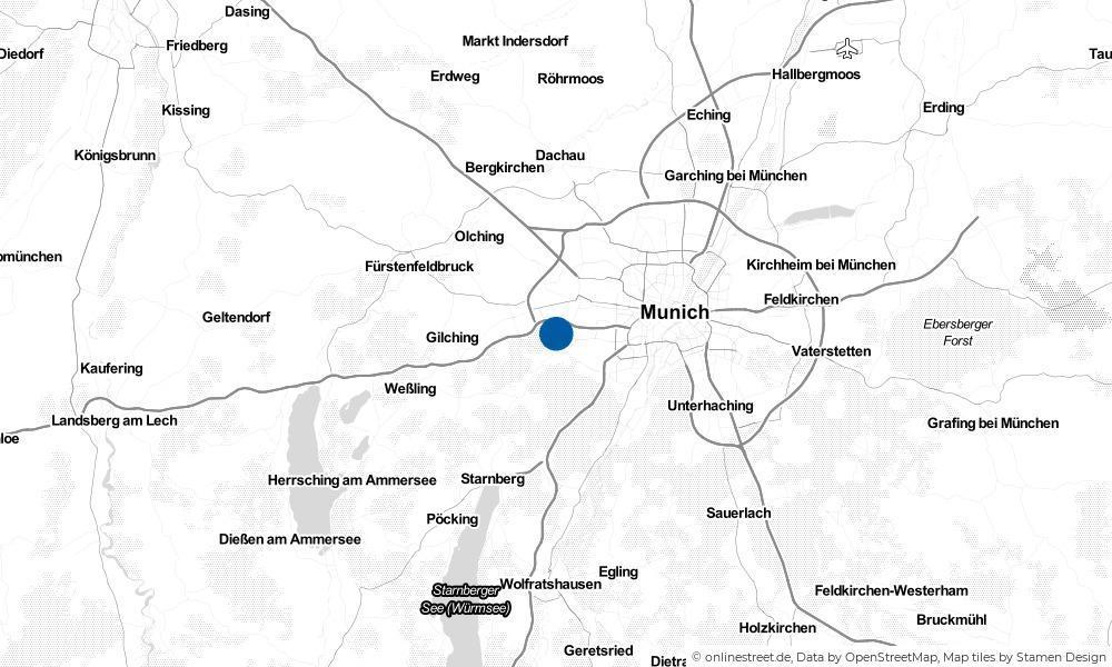 Karte: Wo liegt Gräfelfing?