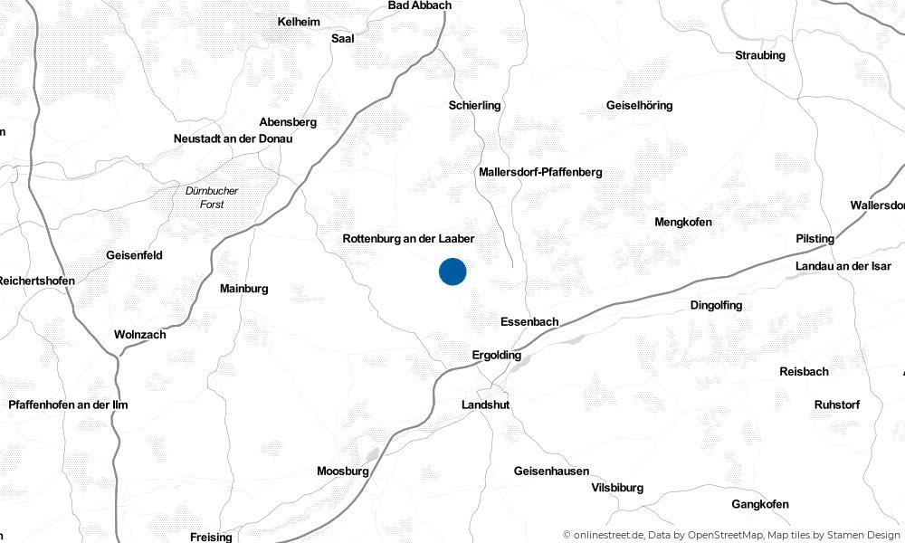 Karte: Wo liegt Hohenthann?