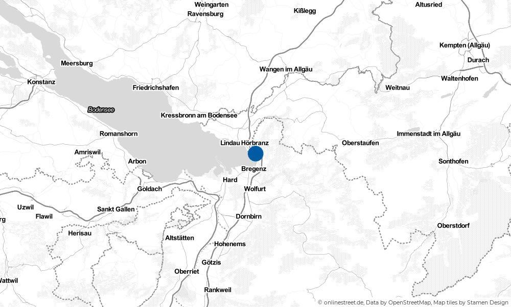 Karte: Wo liegt Lochau?