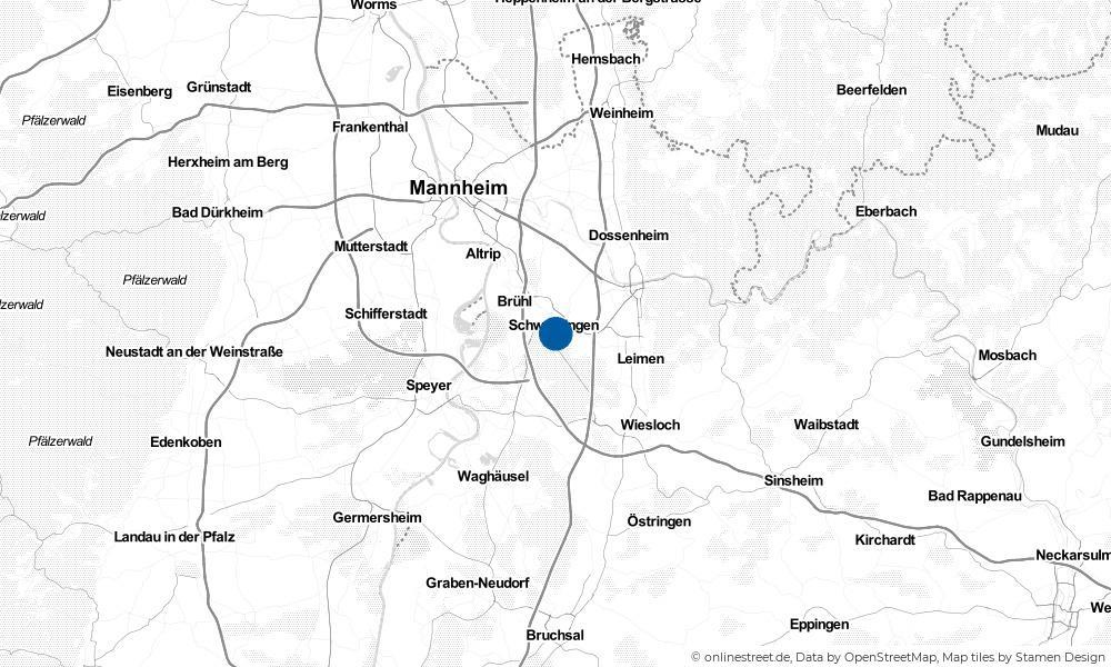 Karte: Wo liegt Oftersheim?