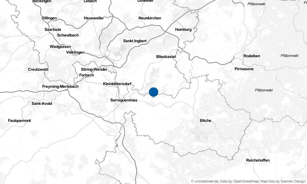 Karte: Wo liegt Gersheim?