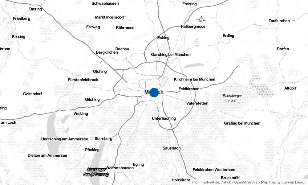 Karte: Wo liegt München?