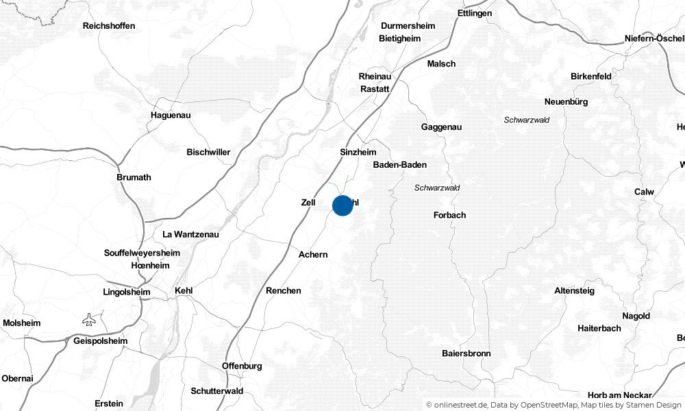 Karte: Wo liegt Bühl?