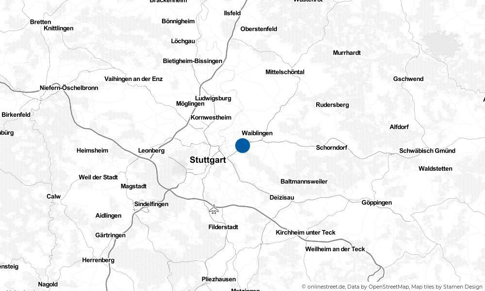Karte: Wo liegt Fellbach?