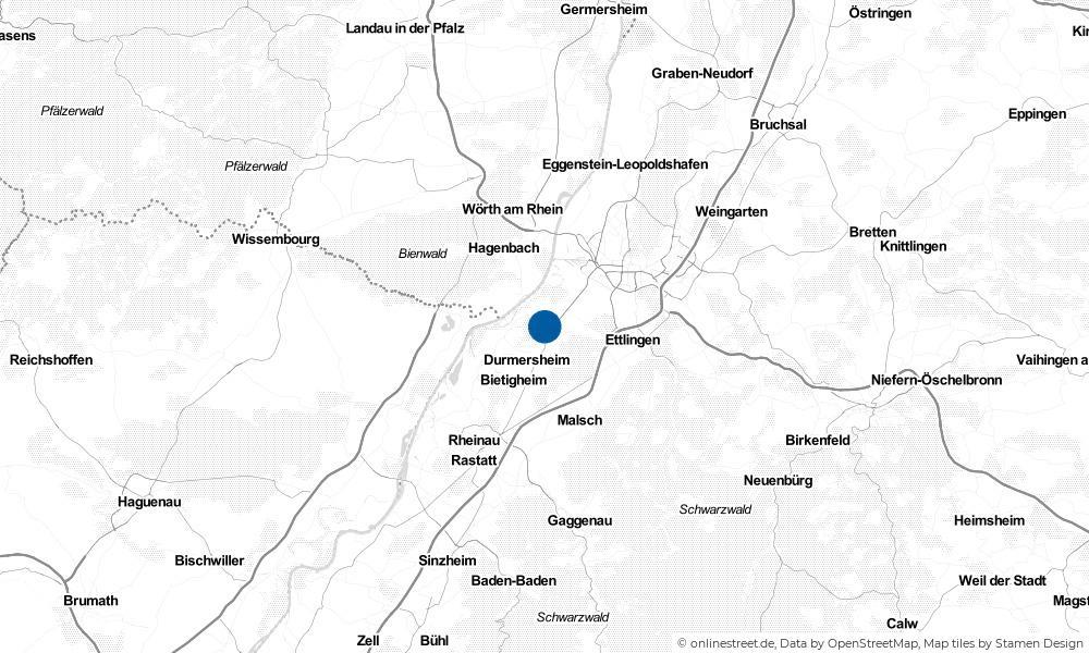 Karte: Wo liegt Rheinstetten?