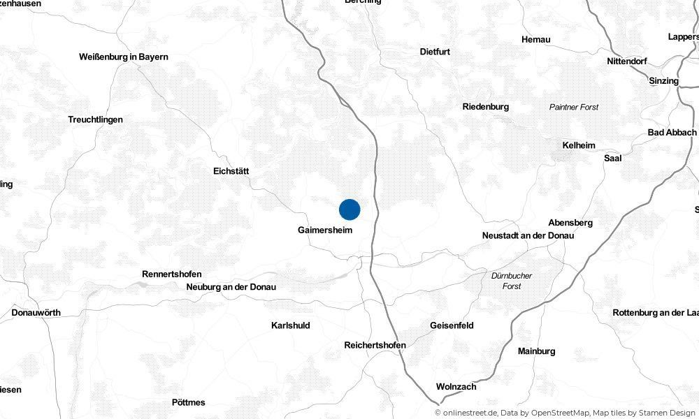 Karte: Wo liegt Wettstetten?