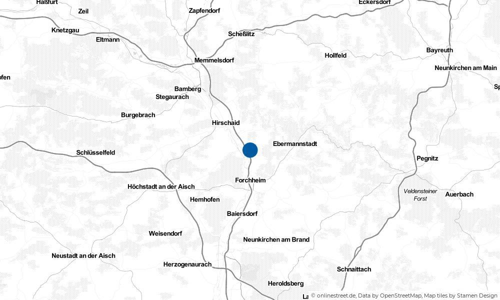 Karte: Wo liegt Eggolsheim?