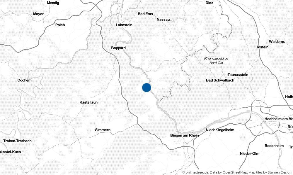 Karte: Wo liegt Oberwesel?