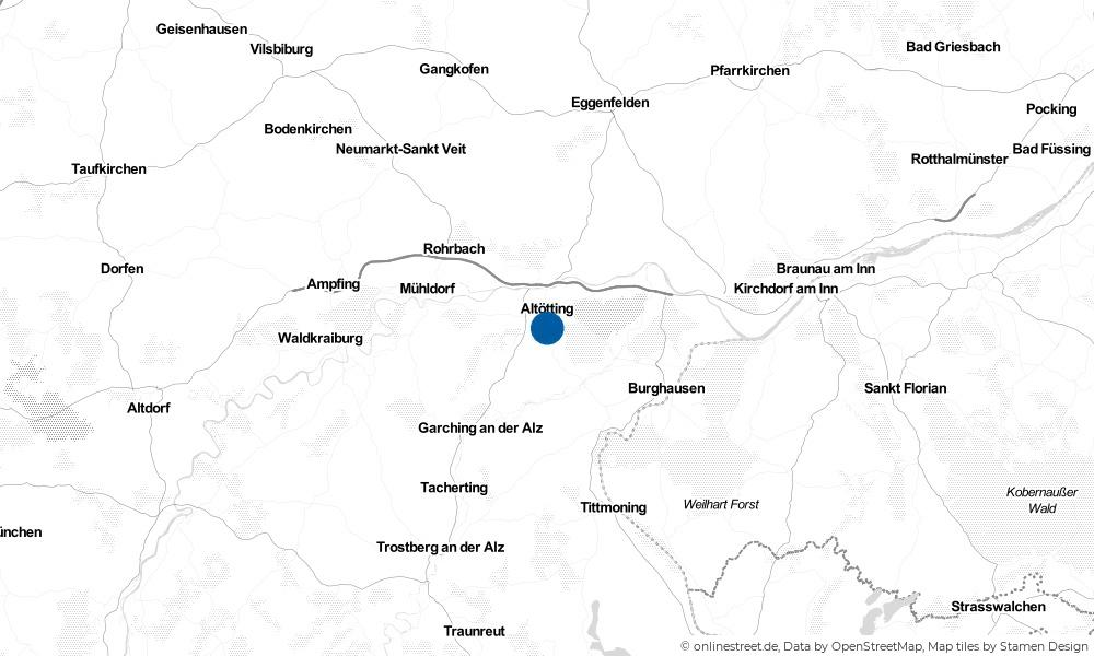 Karte: Wo liegt Neuötting?