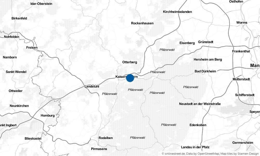 Karte: Wo liegt Kaiserslautern?