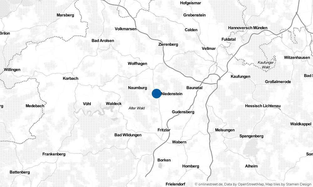 Karte: Wo liegt Bad Emstal?