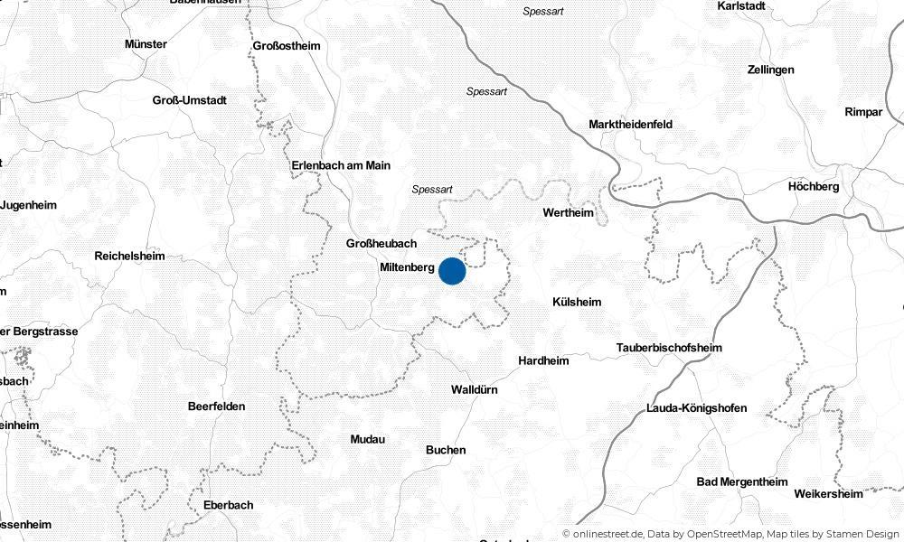 Karte: Wo liegt Eichenbühl?