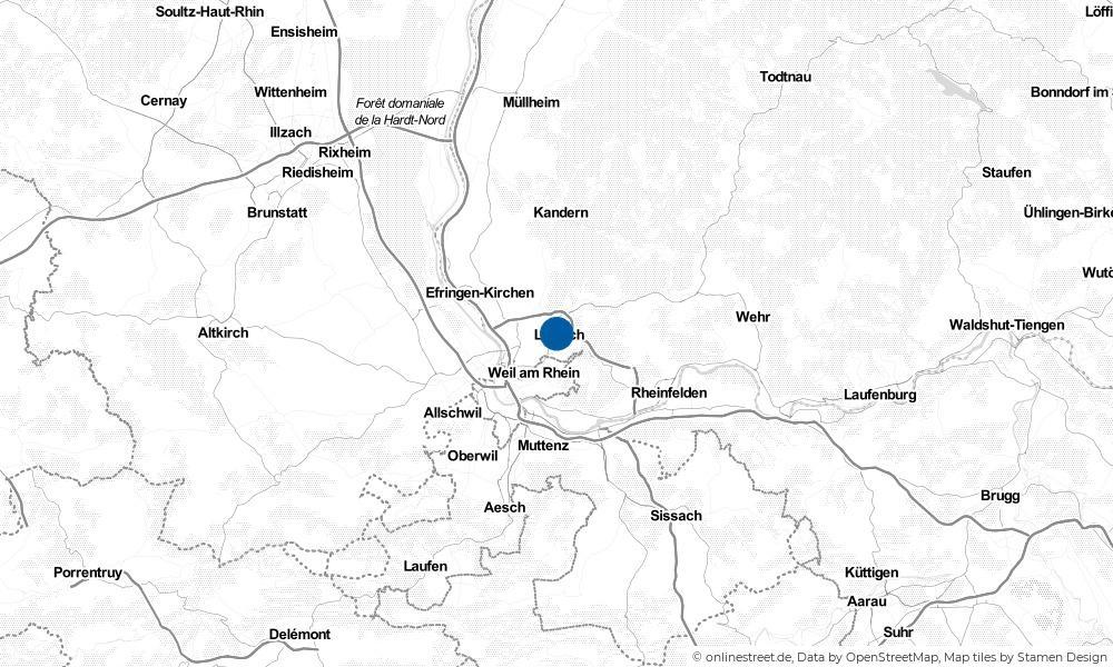 Karte: Wo liegt Lörrach?