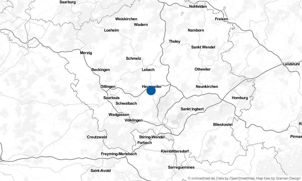 Karte: Wo liegt Heusweiler?