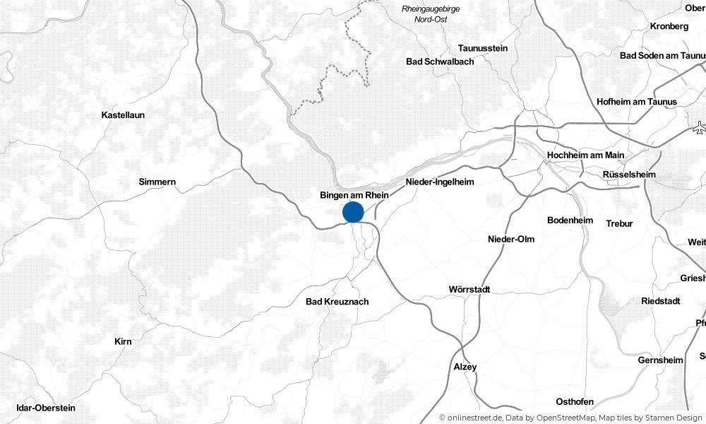 Karte: Wo liegt Münster-Sarmsheim?