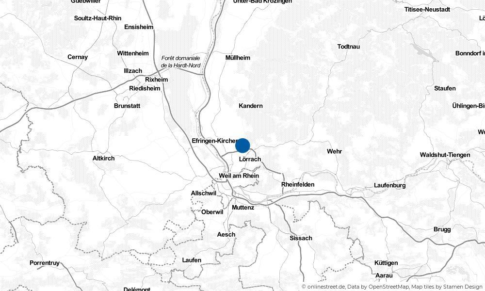 Karte: Wo liegt Rümmingen?