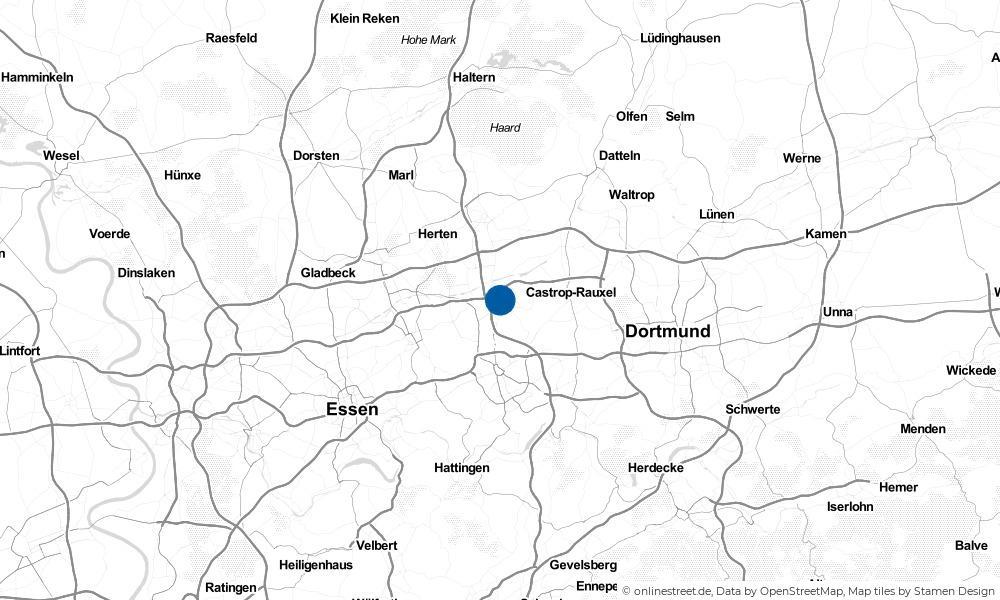 Karte: Wo liegt Herne?