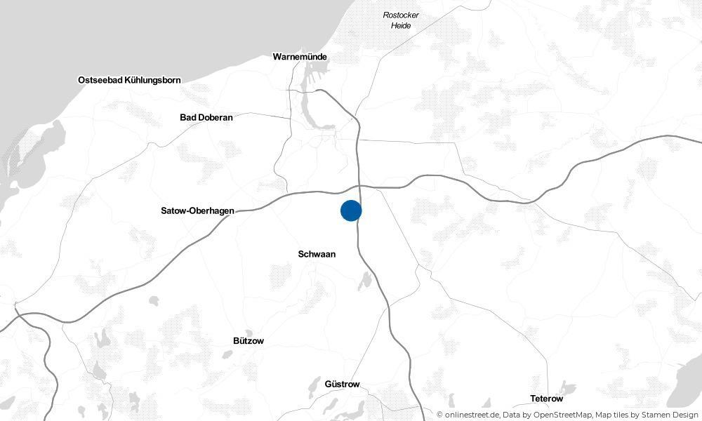 Karte: Wo liegt Kavelstorf?