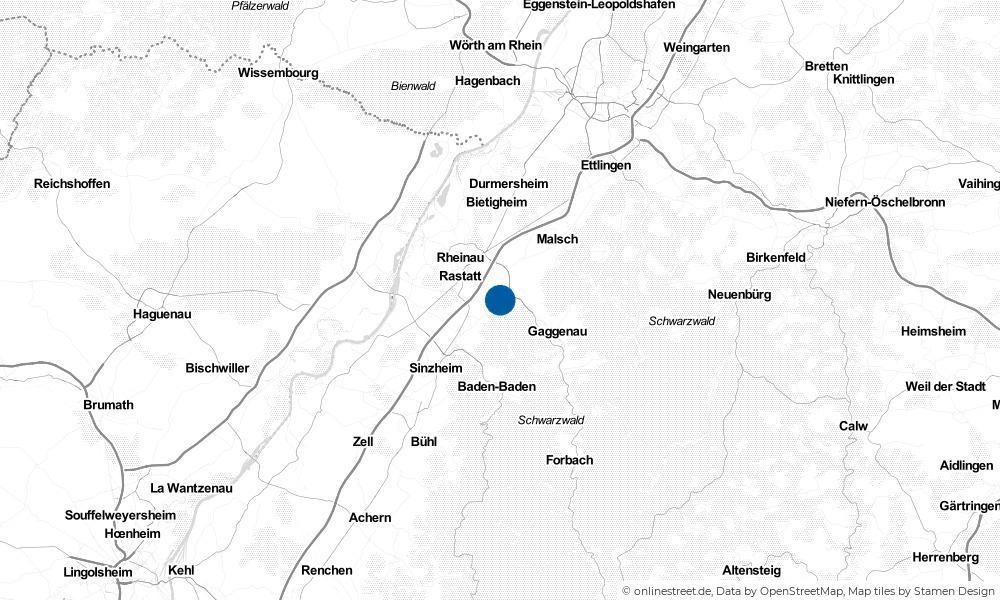 Karte: Wo liegt Kuppenheim?