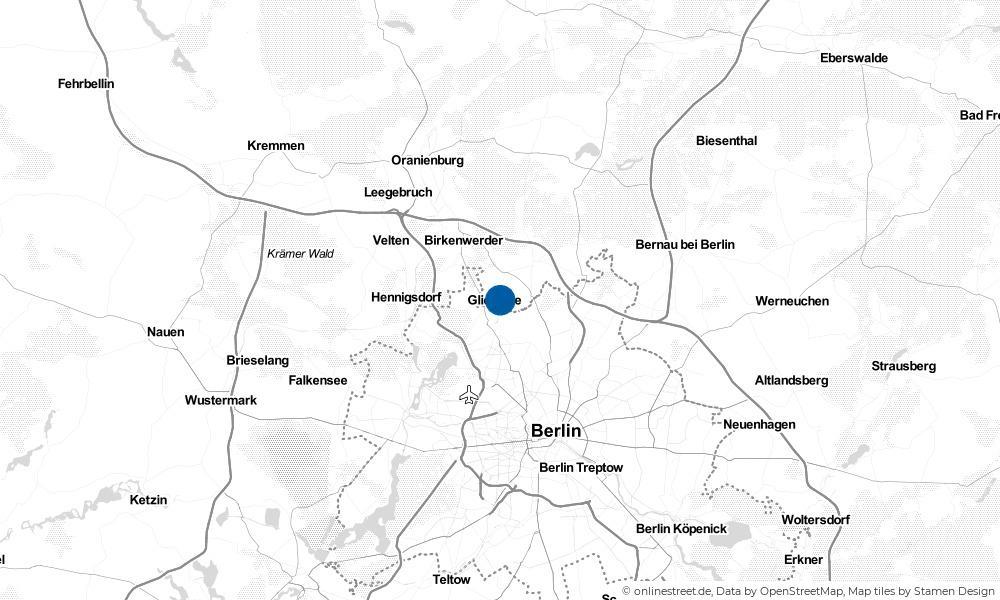 Karte: Wo liegt Glienicke (Nordbahn)?