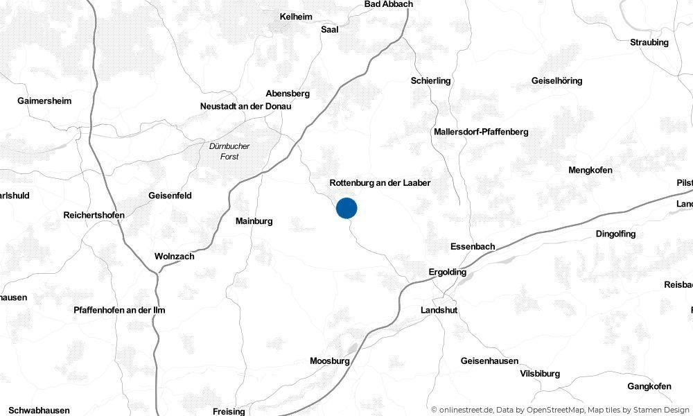 Karte: Wo liegt Pfeffenhausen?