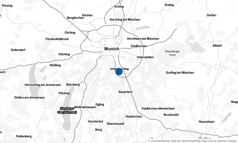 Karte: Wo liegt Taufkirchen?