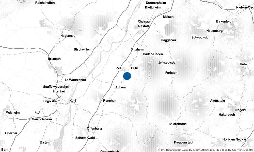 Karte: Wo liegt Ottersweier?