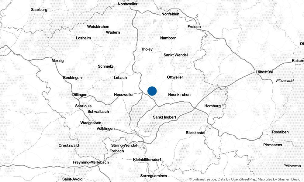 Karte: Wo liegt Merchweiler?