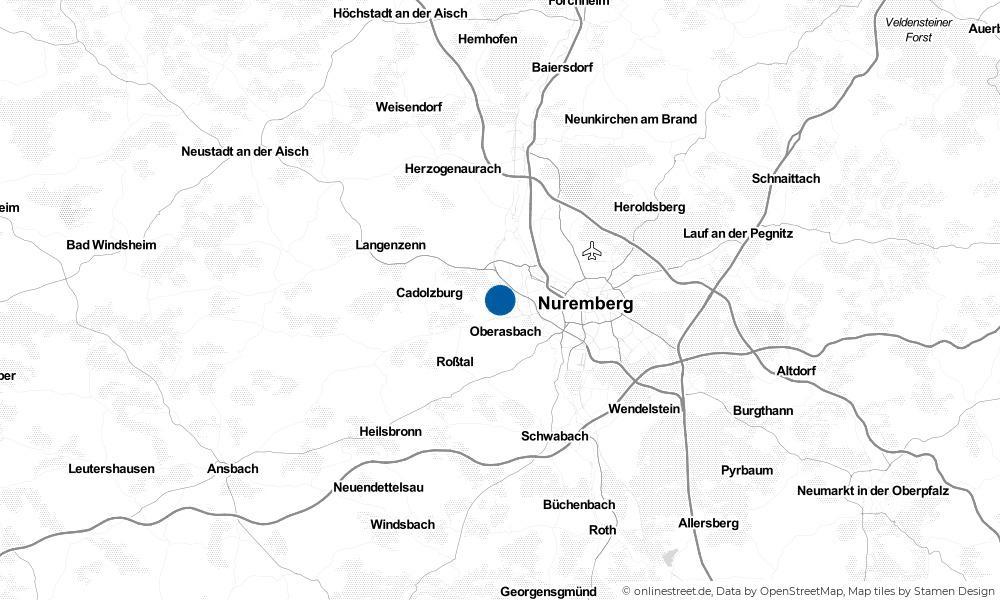 Karte: Wo liegt Zirndorf?