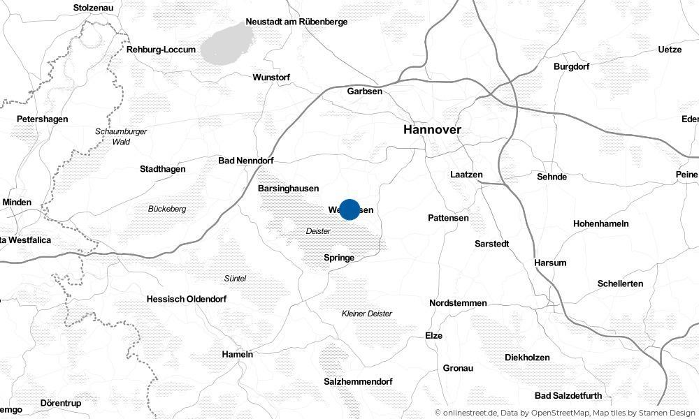 Karte: Wo liegt Wennigsen?