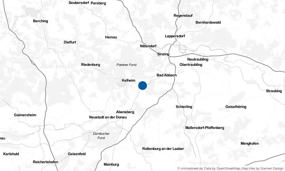 Karte: Wo liegt Saal an der Donau?