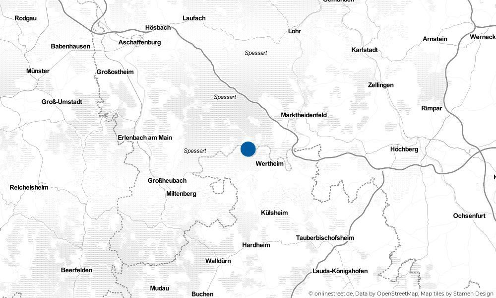 Karte: Wo liegt Faulbach?