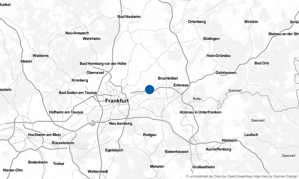 Karte: Wo liegt Maintal?